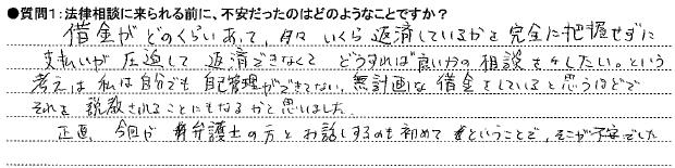 20141106債務整理①O様